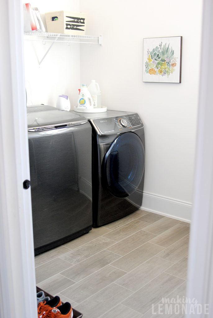 mudroom and laundry room makeover
