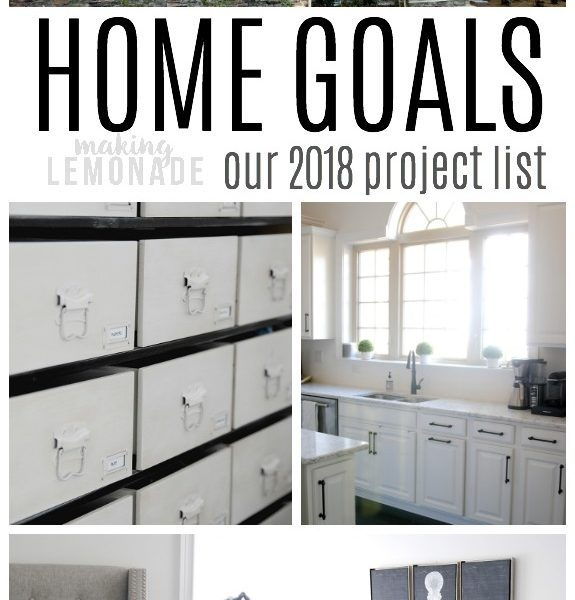 the complete list of home goals for the year-- from major renovation to room makeovers to organizational projects!
