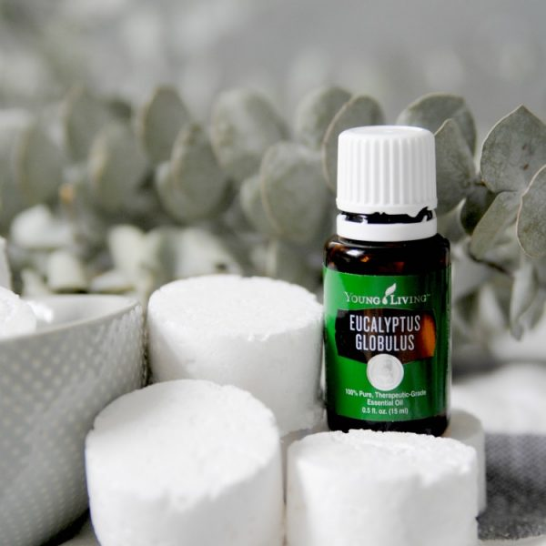 eucalyptus oil with shower steamers