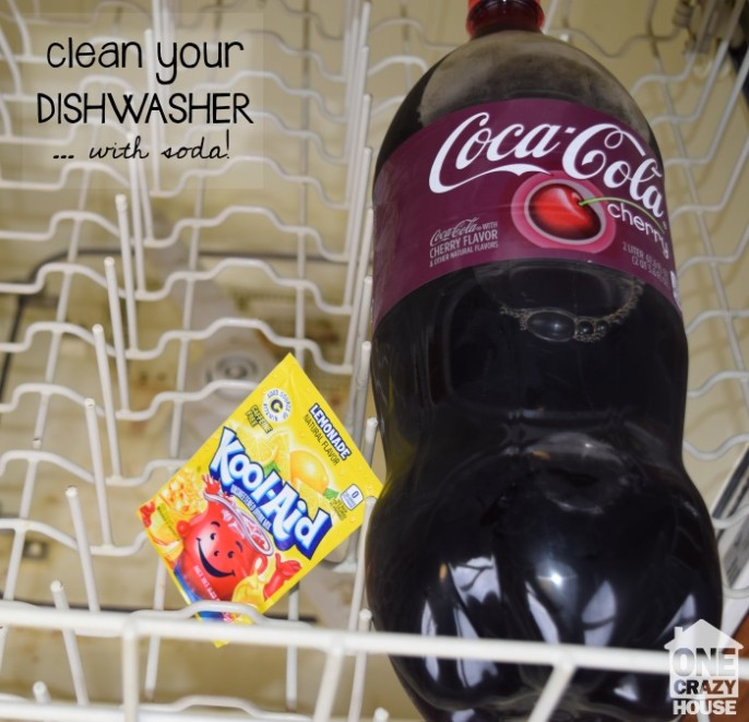 Clean your dishwasher with soda and Kool Aid