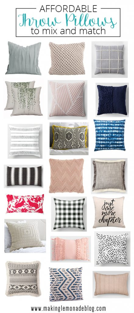 Affordable throw pillows to refresh your space
