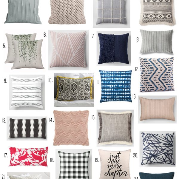 Affordable throw pillows to mix and match