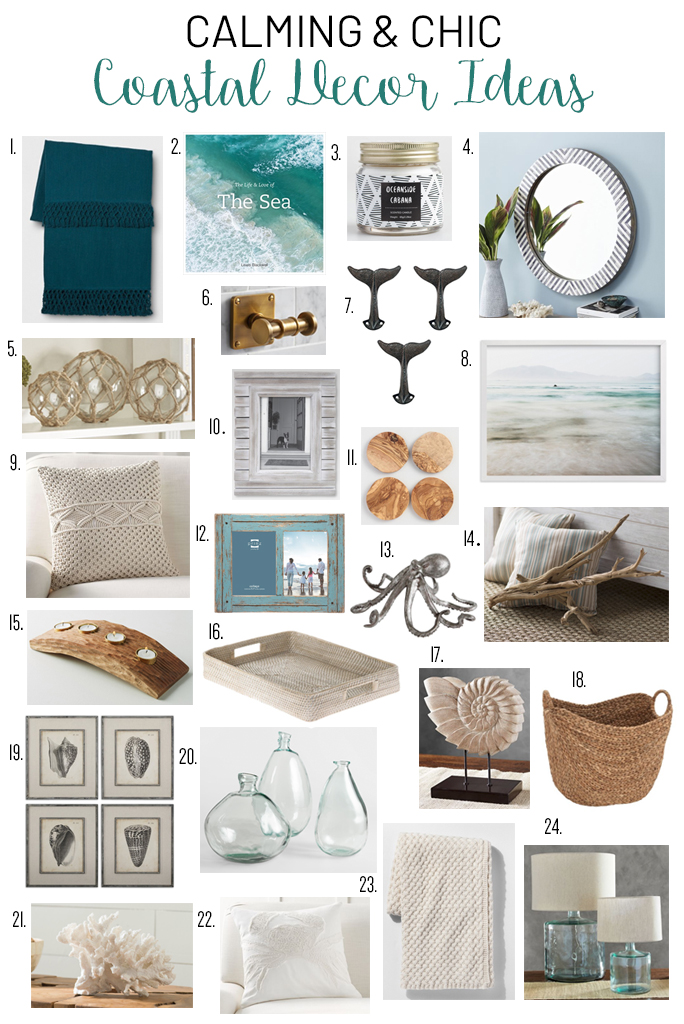 Calming and chic coastal decor ideas