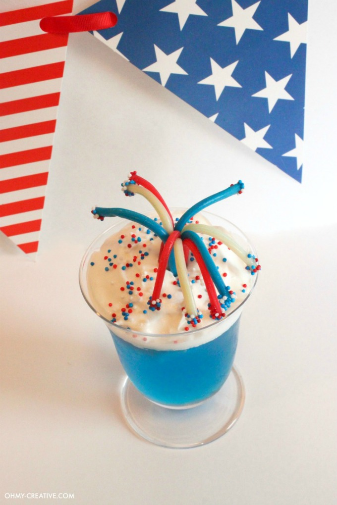 Fireworks Jello Cups from Oh My! Creative