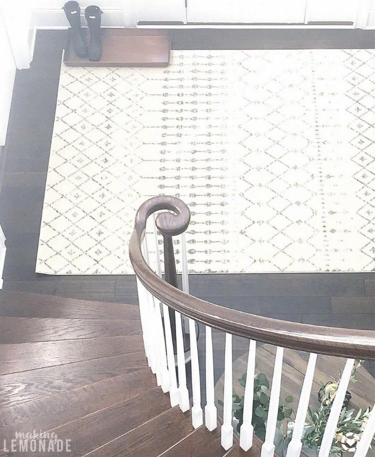 modern morrocan trellis entryway rug