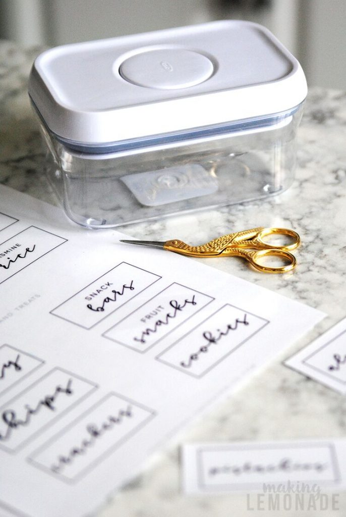 how to organize your pantry (free pantry labels)