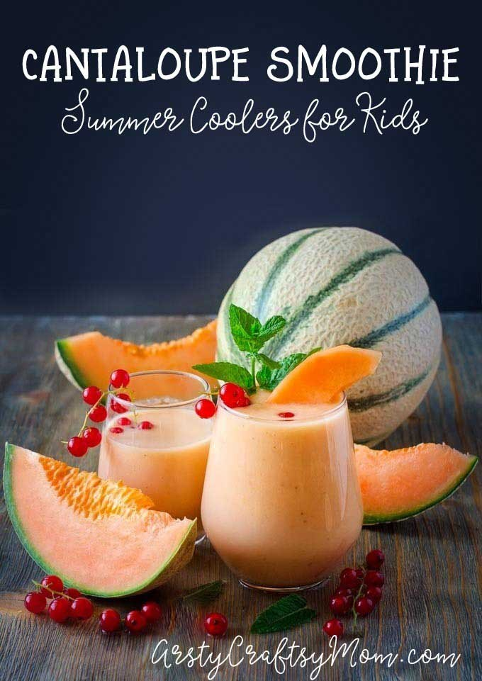 Cantaloupe Smoothie by Artsy Craftsy Mom