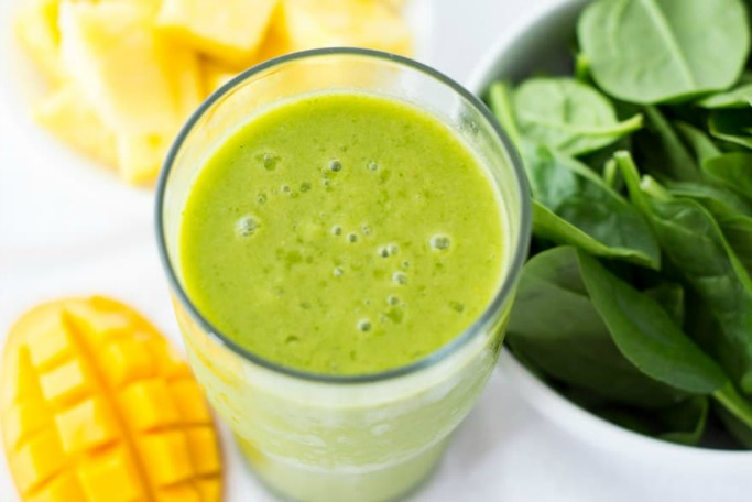 Pineapple Mango Green Smoothie from A Daily Smoothie