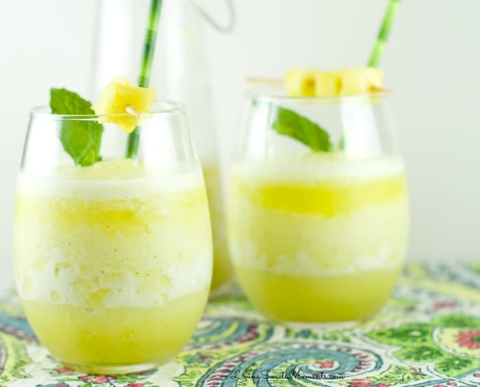 Pineapple Mint Smoothie from Living Sweet Moments