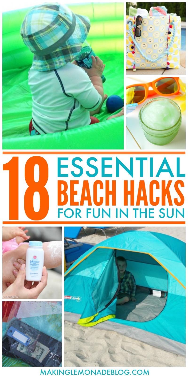 18 Helpful Beach Hacks For Fun In The Sun Making Lemonade