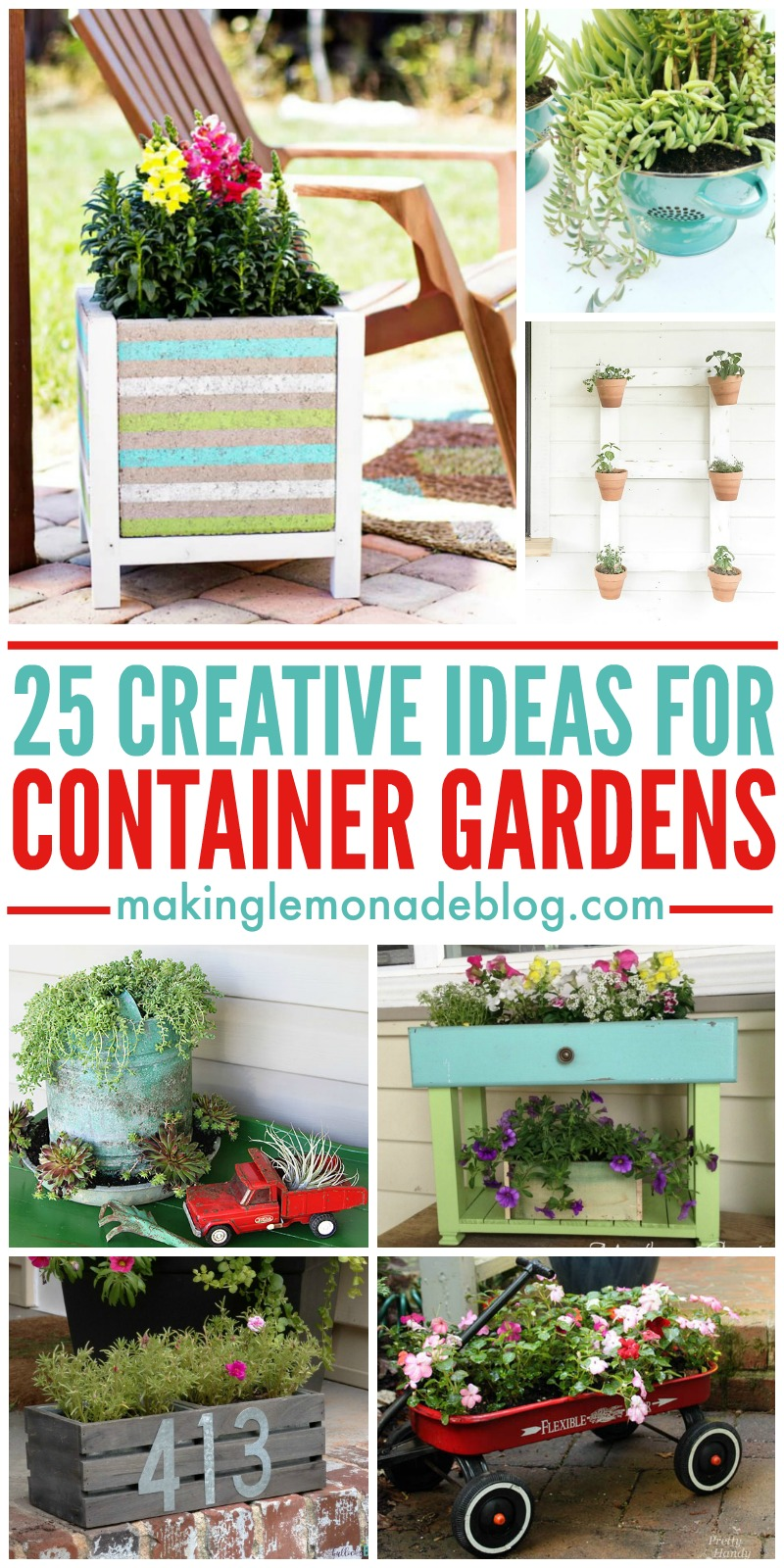 25 Creative Container Garden Ideas