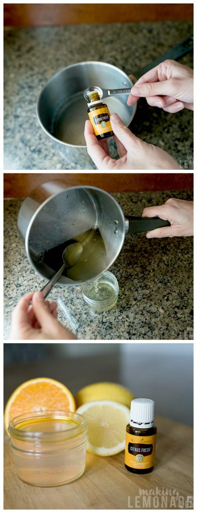step by step DIY gel air freshener recipe