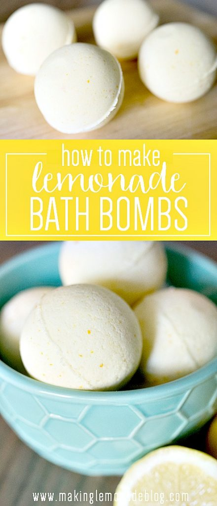 Easy DIY Lemonade Bath Bombs infused with essential oils... these smell amazing!