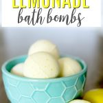 Lemon Bath Bombs in Bowl