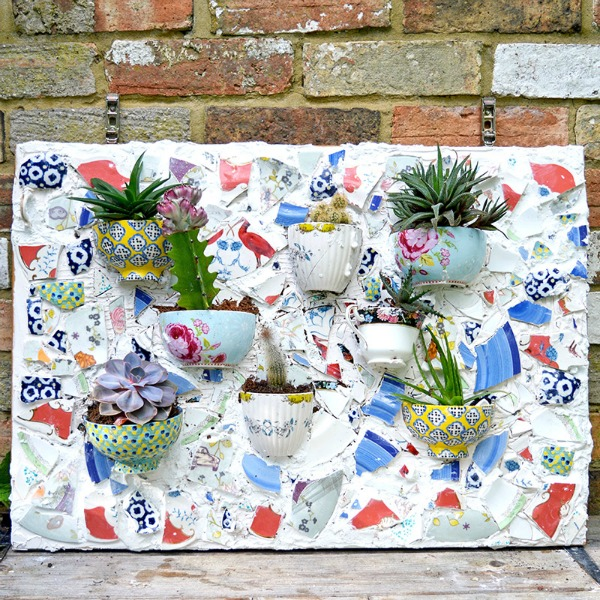 broken crockery planters