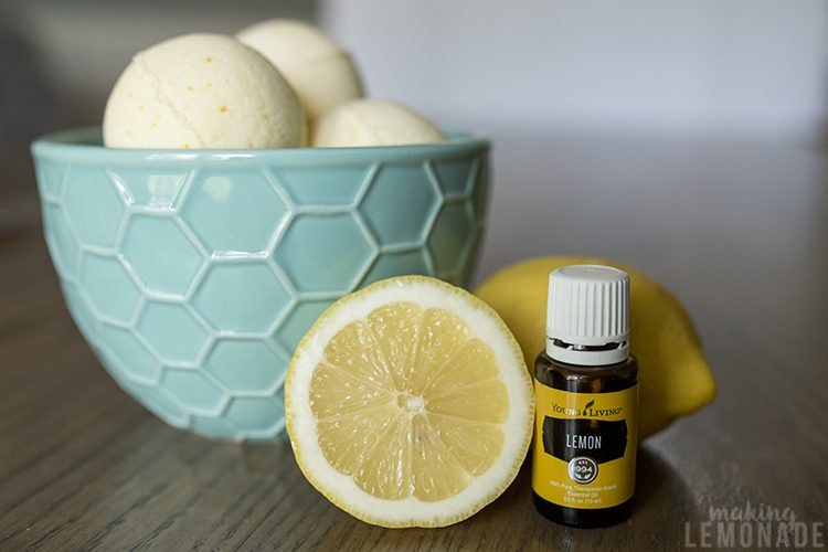 Relax with these DIY essential oil lemon bath bombs