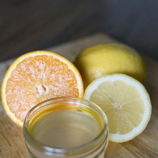 gel air freshener with lemons