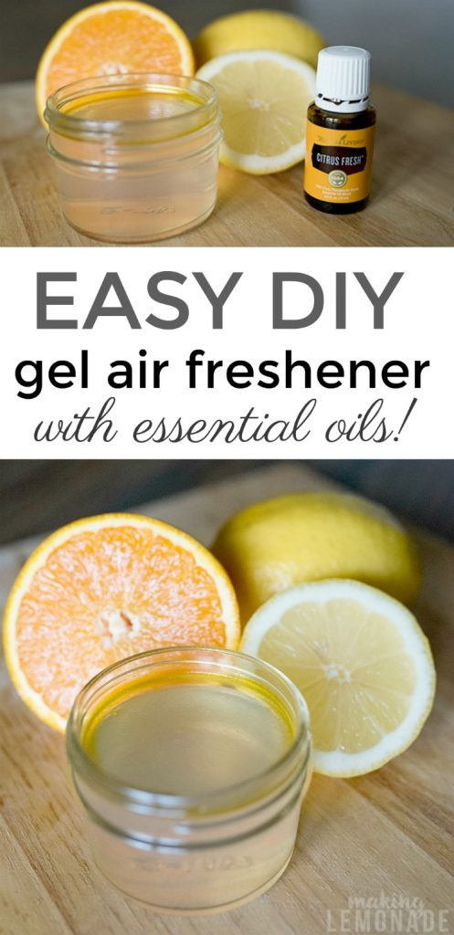 how to make gel air fresheners