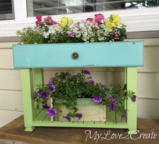 old drawer planters