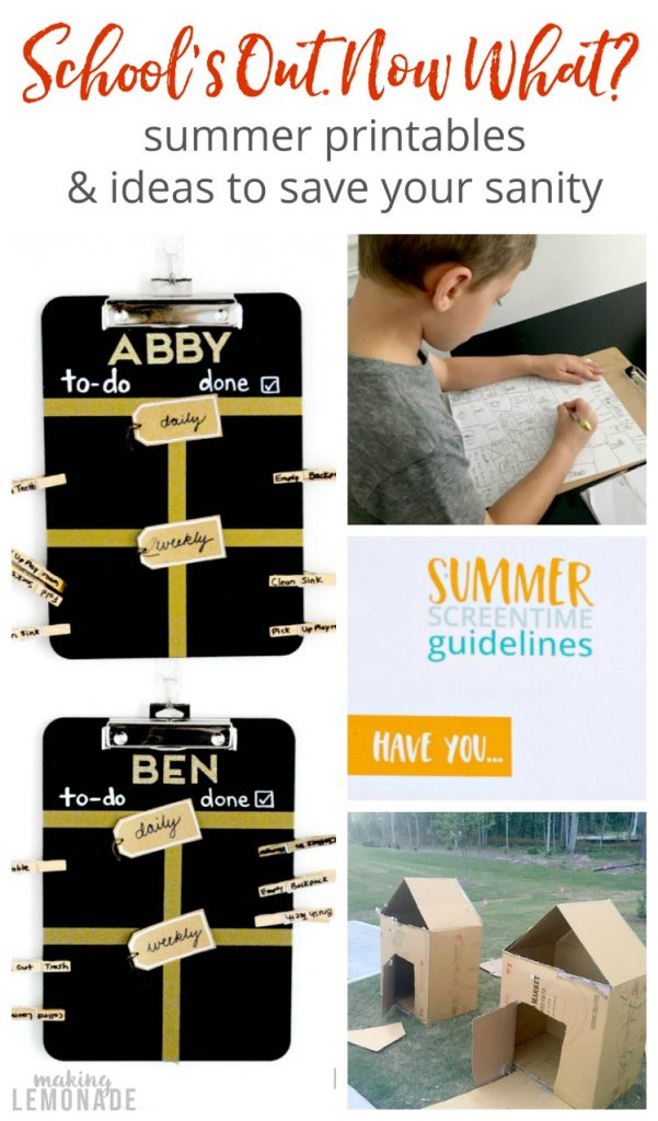 keep kids busy this summer with no tears or tantrums (free summer printables for kids)