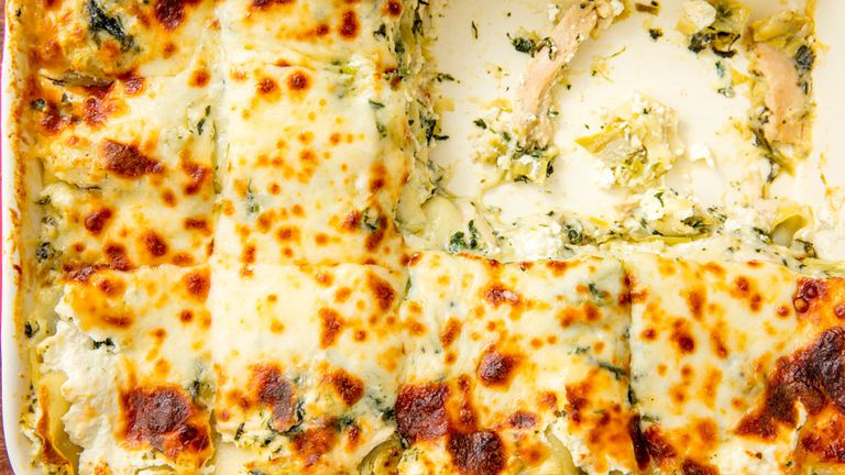 Chicken spinach artichoke lasagna