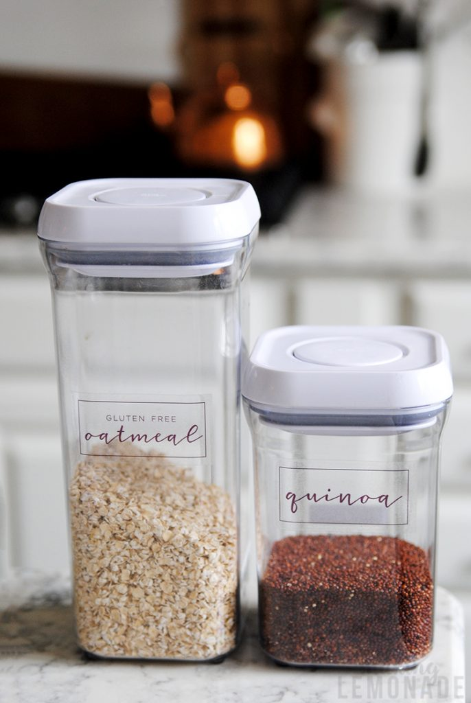 OXO kitchen canisters