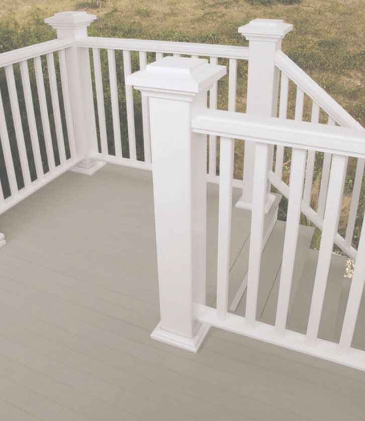 white and gray deck