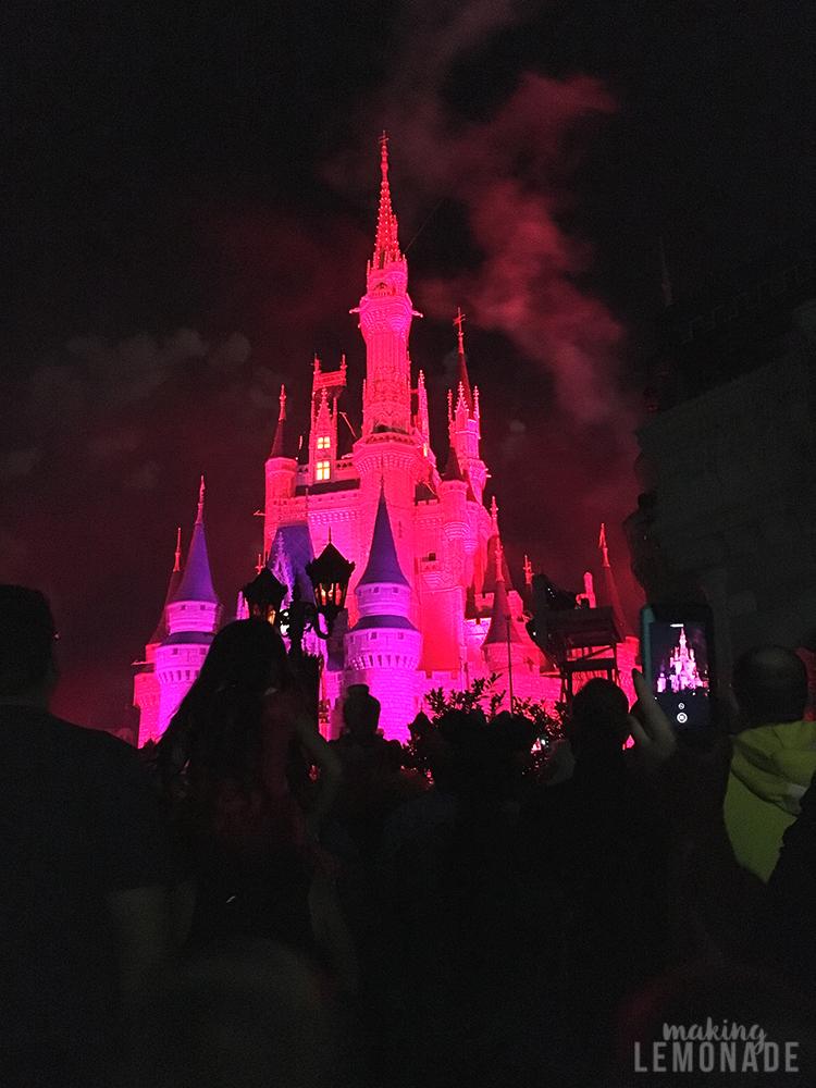 Cinderella's castle on Halloween
