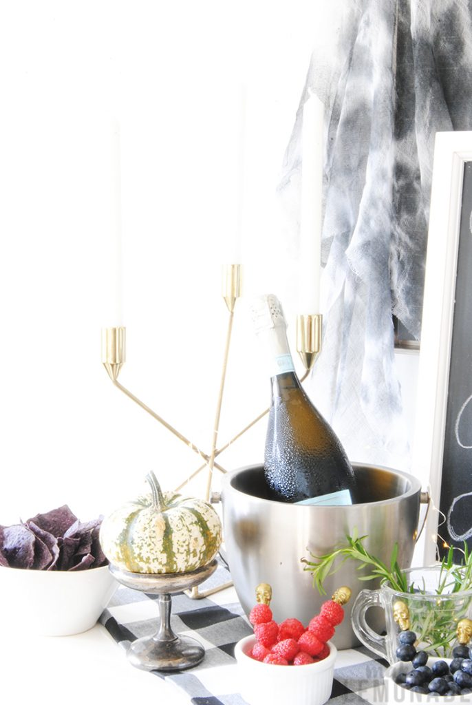 Pick Your Poison Prosecco Bar Diy Halloween Party Ideas Making Lemonade