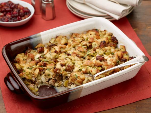 Close up of Thanksgiving stuffing