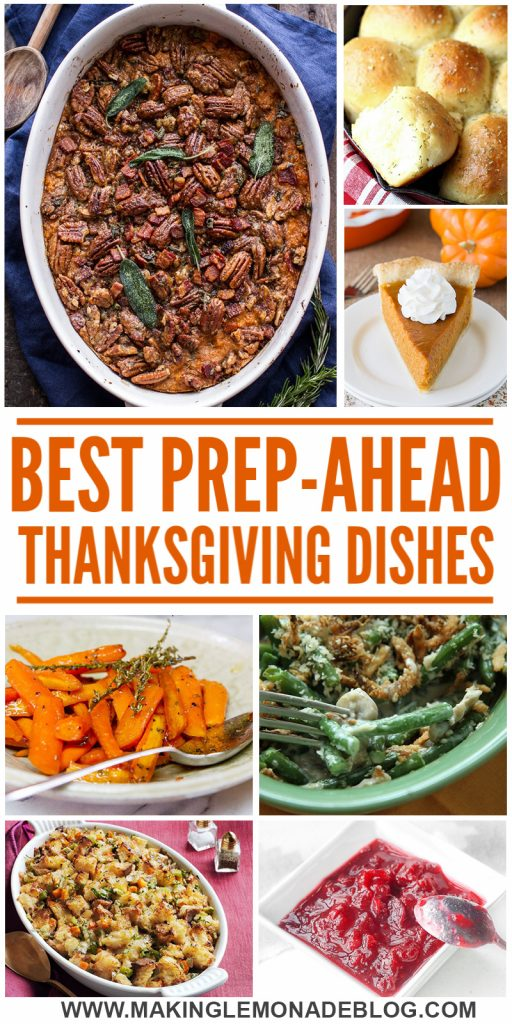 These delicious prep-ahead Thanksgiving side dish recipes make Thanksgiving meals so much easier and less stressful!