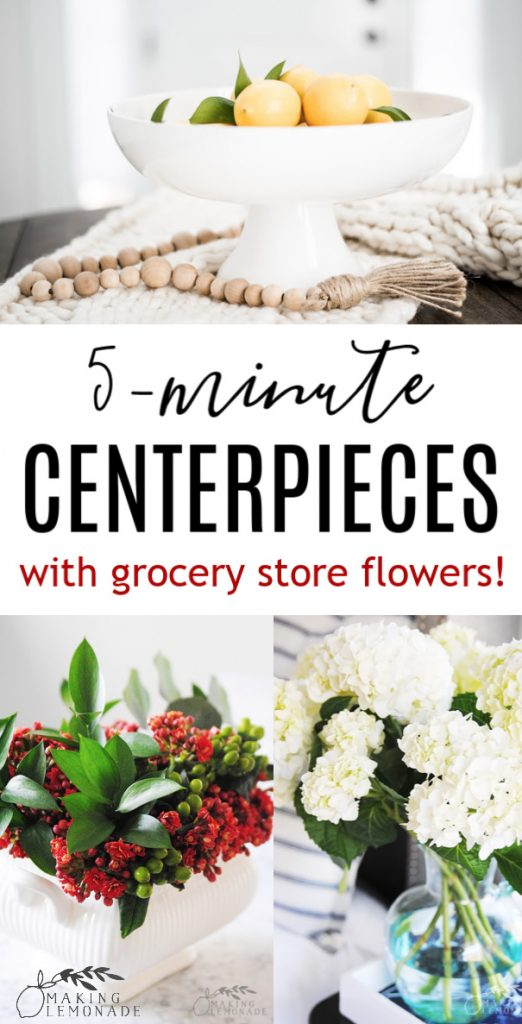 easy flower centerpieces collage