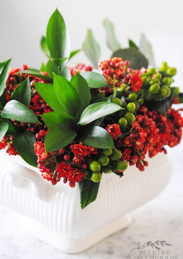 holiday flower centerpiece