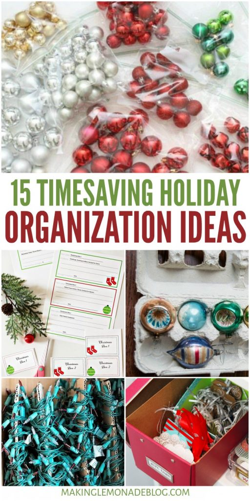 15 Timesaving Holiday Organization Ideas Collage