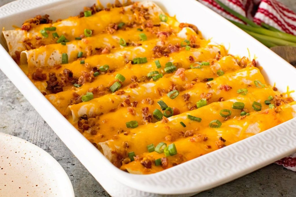Yummy make ahead breakfast enchiladas for Christmas morning
