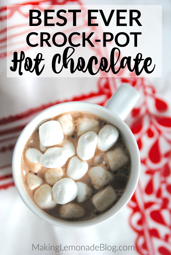 mug with crockpot hot chocolate