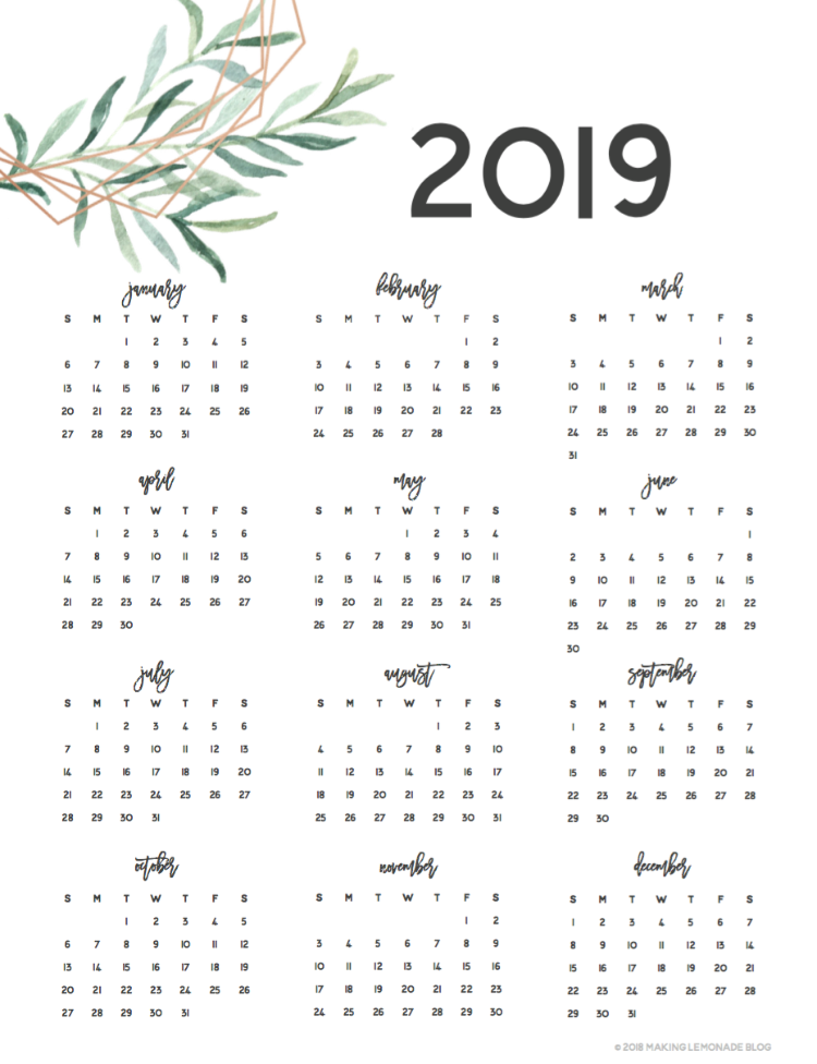 picture relating to Printable Photos named Acquire Prepared with our Free of charge Printable 2019 Planner! Creating