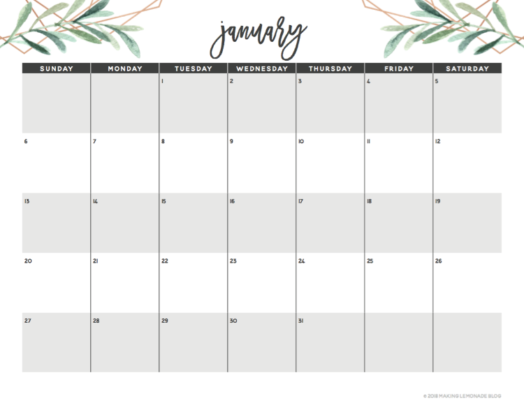Get Organized With Our Free Printable 2019 Planner Making Lemonade