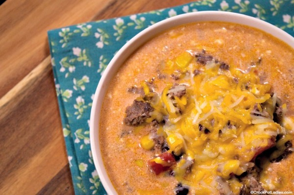 creamy southwest taco soup