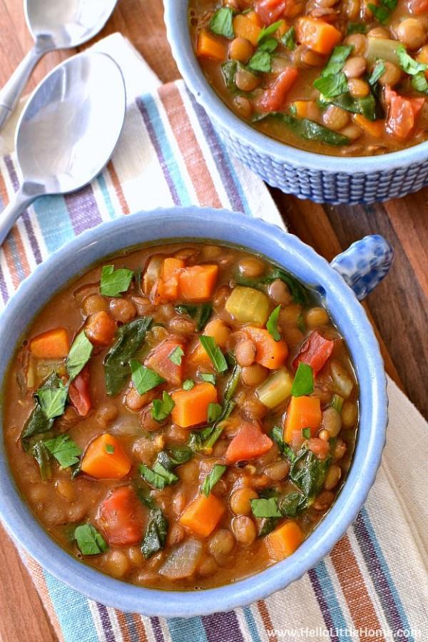 easy vegan lentil soup
