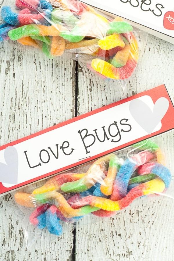 gummy worm valentines