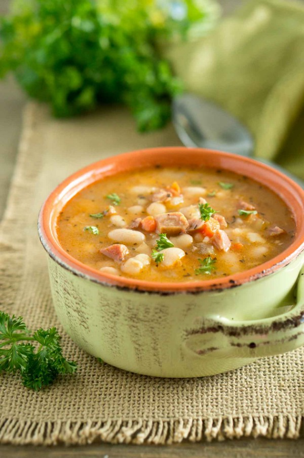 instant pot ham and white bean soup