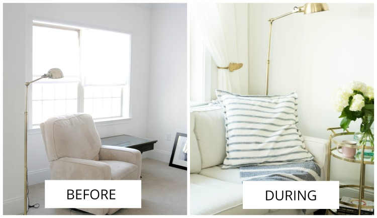 sitting area makeover