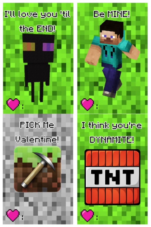 photograph about Minecraft Valentine Box Printable titled 25 Artistic Clroom Valentines Options for Youngsters Producing