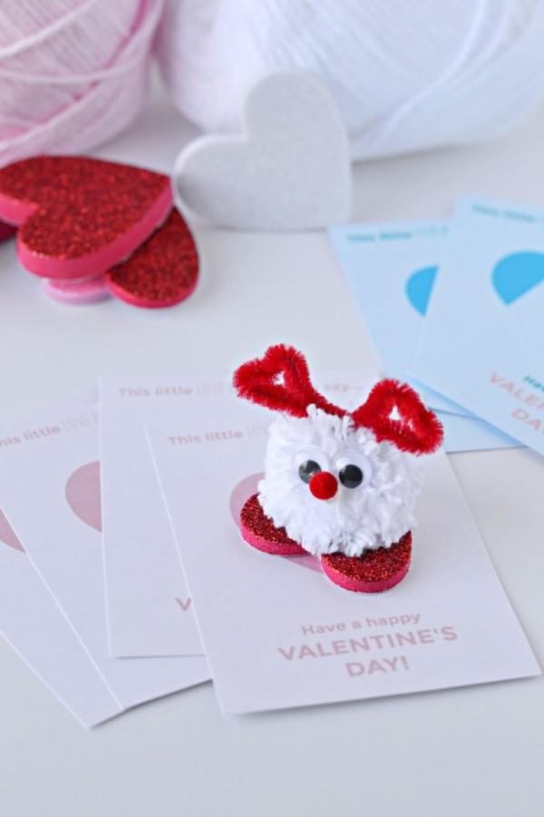 pom pom love bug valentines