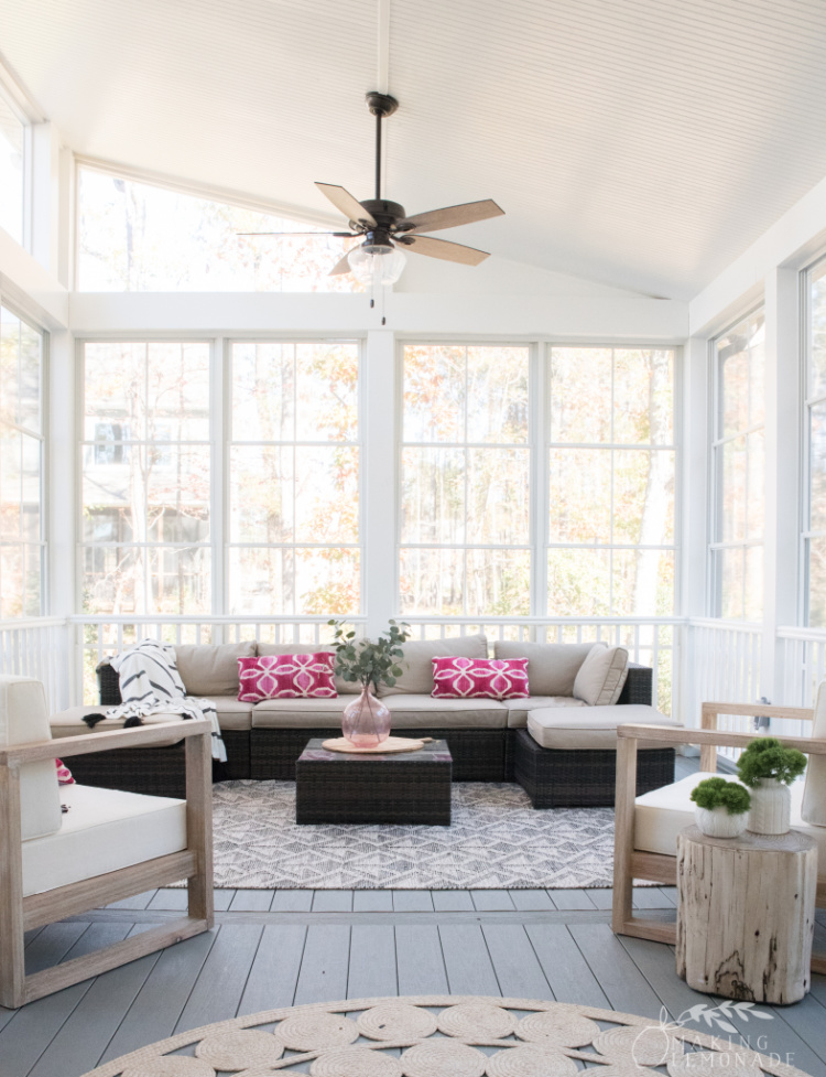 three-season screened porch addition