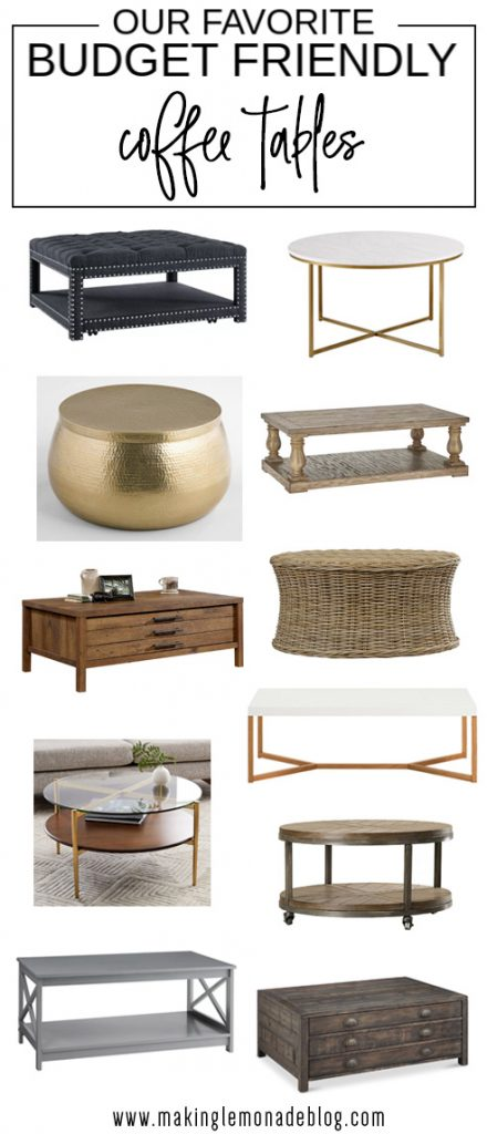 affordable farmhouse style coffee tables