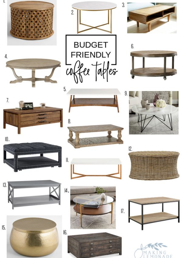 17 Highly Rated + Stylish Coffee Tables