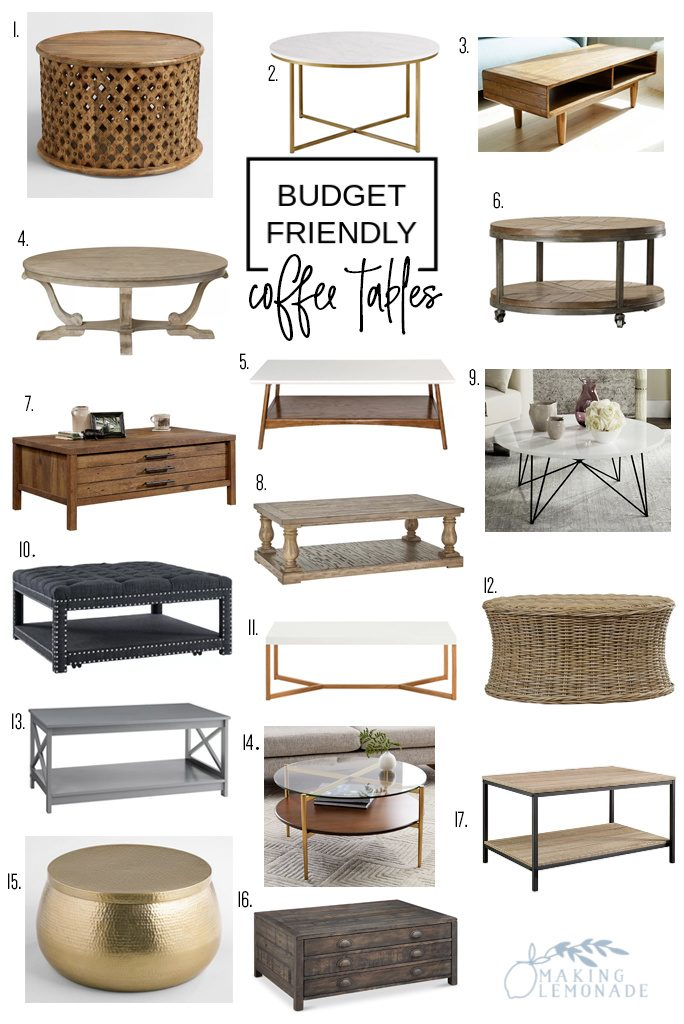 affordable farmhouse style coffee tables roundup