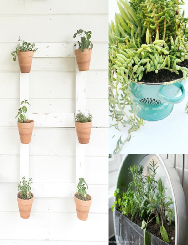 25 Creative Container Garden Ideas collage